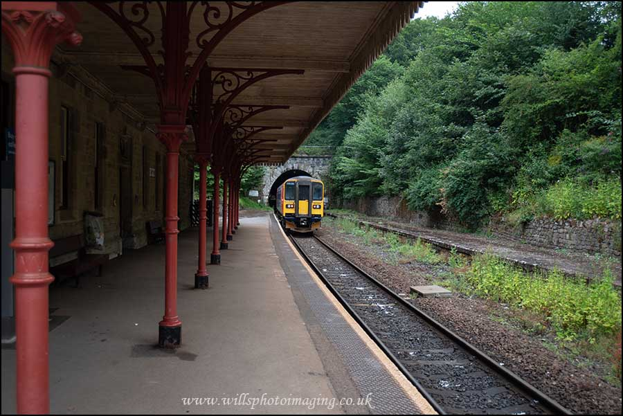 East Midlands Trains 153 unit departing Cromford Station.