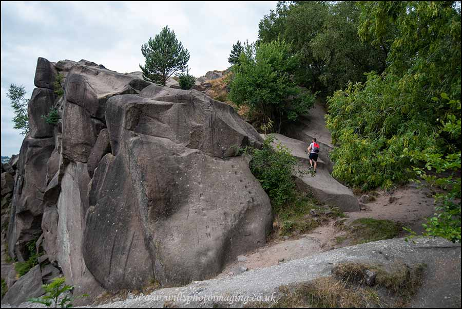 Black Rocks Slab End is to the left of the block the person is on